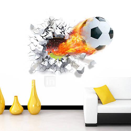 Caricatura romance deportes 3d pegatinas de pared for Pegatinas decorativas