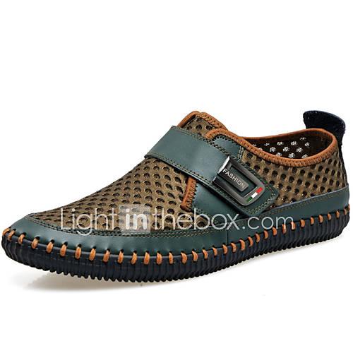 Hombre-Tacón Plano-Confort Gladiador Zapatos para patines-Zapatos de taco bajo y Slip-Ons-Exterior Oficina y Trabajo Vestido Informal