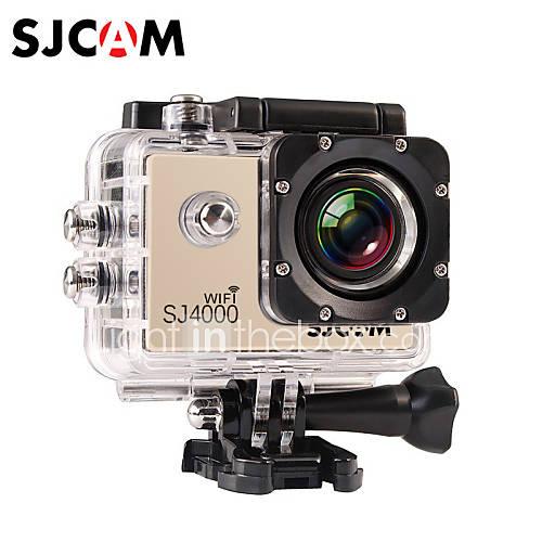 SJCAM SJ4000 WIFI Cámara acción / Cámara deporte 12MP / 8MP / 2MP / 3MP / 5MP 1920 x 1080 WIFI / Impermeable 4X ± 2 EV 1.5 CMOS 32 GB Descuento en Lightinthebox