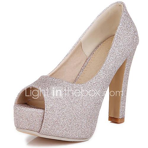 s shoes customized materials chunky heel peep toe