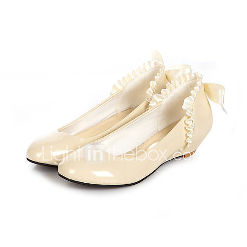 s shoes patent leather low heel comfort flats casual