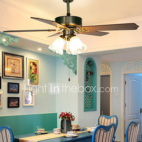 BXIMIYA Classical Mediterranean Europe Type Fan Light Simple Dining Room Sitt