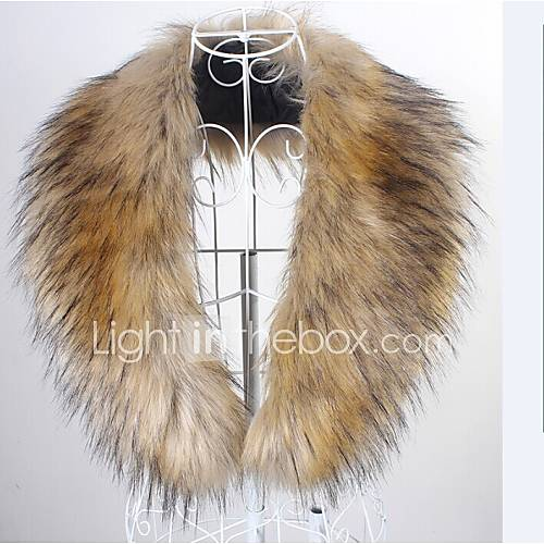 Sleeveless Faux Fur Party Evening Casual Fur Wraps Fur Accessories Faux Leather Collars
