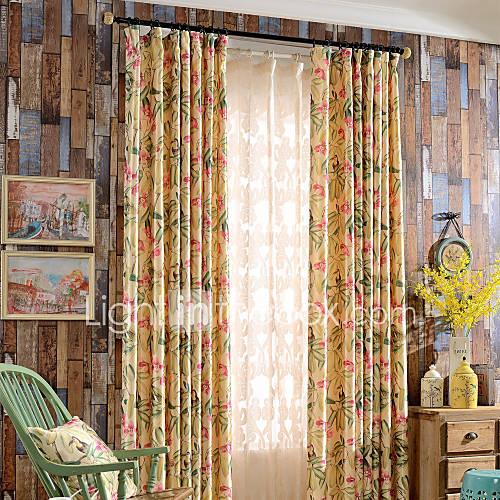 color fleur fleurs et d 39 oiseaux lilas print black out des rideaux doubl s drape deux panneaux. Black Bedroom Furniture Sets. Home Design Ideas