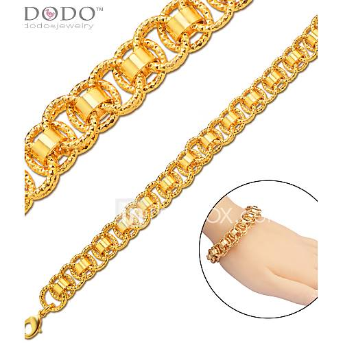Cadenas De Oro Italiano 14k: Gold Bracelet 18K Stamp Trendy Platinum/18K Gold Plated