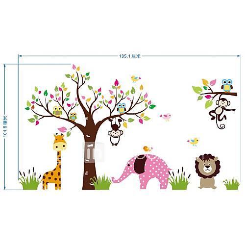 Wall Decoration Of Kindergarten : Animals paradise wall art mural poster children s park