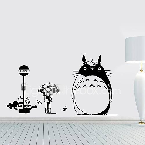 Wall Decal Japanese Cartoon Movie My Neighbor Totoro Wall