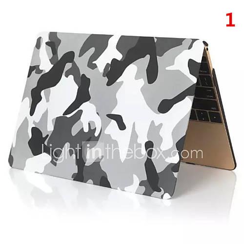2016 venda superior camuflagem cor pvc caso macbook completo para macbook de 12 polegadas