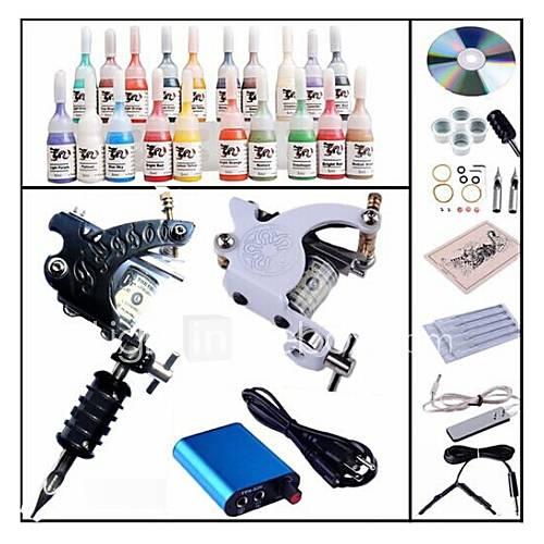 basekey kit profissional begineer tatuagem kl102 1 máquina com apertos de alimentação 28x5ml agulhas de tinta