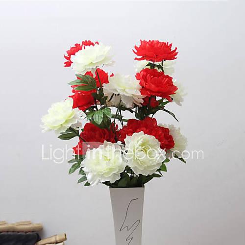 Peonies flor de seda de flores de alta calidad flores - Flores artificiales para decorar ...