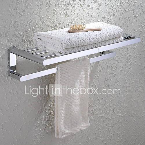 hpb 174 barre porte serviette etag 232 re de salle de bain chrome fixation murale 60 23 13cm 23 6 9 5