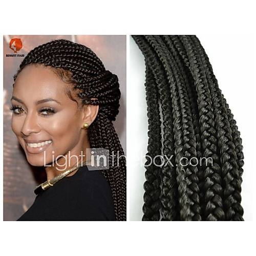 kanekalon braid hair amazoncom black 1b box braids twist