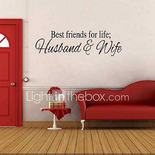 Best Friends For Life Husband And Wife Wall Sticker Art