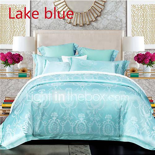 fleur m lange soie coton 4 pi ces ensembles housse de couette de 4825671 2016. Black Bedroom Furniture Sets. Home Design Ideas