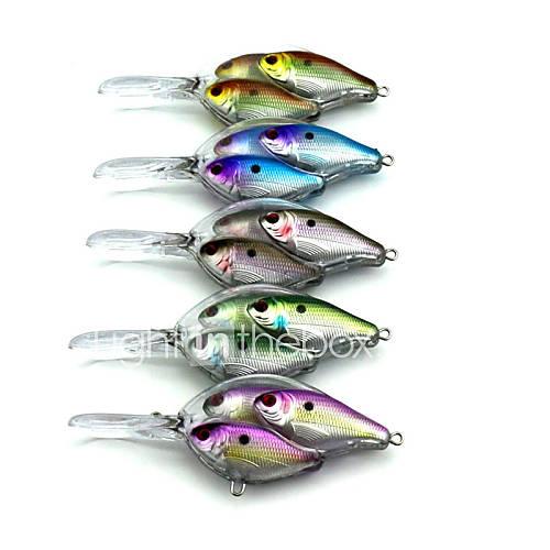 5pieces hengjia school fish crankbaits 97mm fishing for School of fish lure