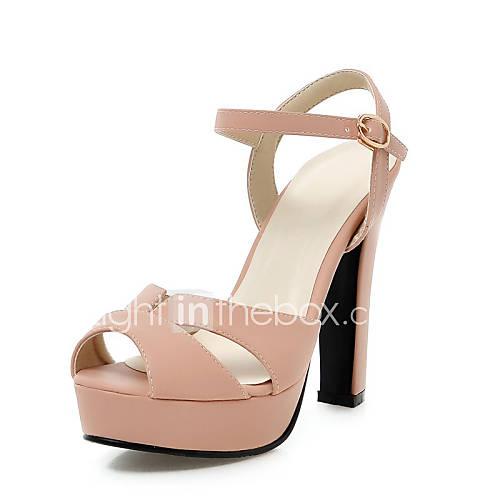 s shoes chunky heel heels peep toe platform