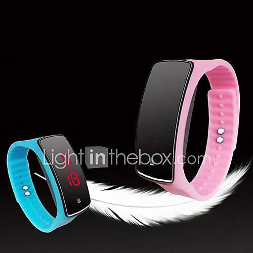 Hombre / Mujer / Unisex Reloj Deportivo Digital LED / Pantalla Táctil Silicona Banda Múltiples Colores Marca- Descuento en Lightinthebox