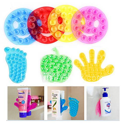 Strong Double Sided Suction Palm PVC Suction Cup Double Magic Plastic Sucker Bathroom(Random color)