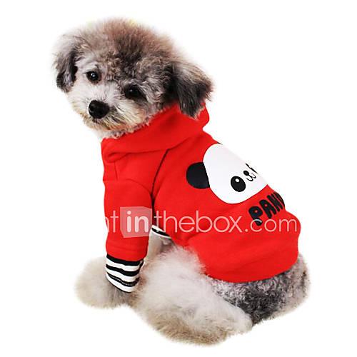 Cani felpe con cappuccio rosso rosa abbigliamento per