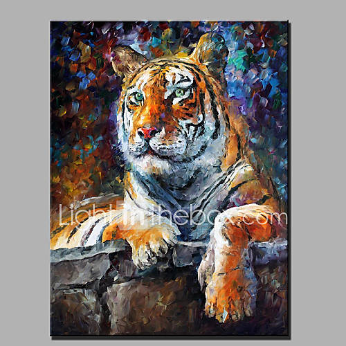 modern abstract of pure hand painted oil painting ready to hang decoration the tiger 4819918. Black Bedroom Furniture Sets. Home Design Ideas