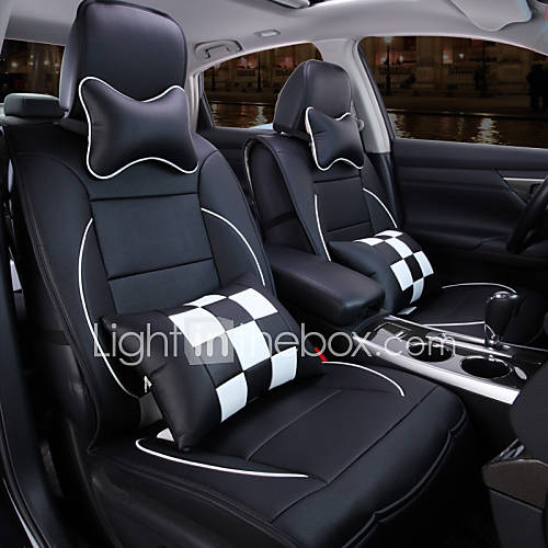 a new full leather plaid car seat cover cushion automotive interior protection of the original. Black Bedroom Furniture Sets. Home Design Ideas