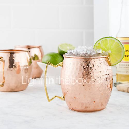 Moscow Mule tazas con acabado de martillo Lightinthebox