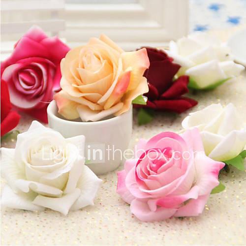 Poliéster Rosas Flores Artificiales