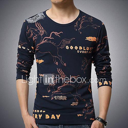 Men 39 S Color Block Casual T Shirt Cotton Spandex Long