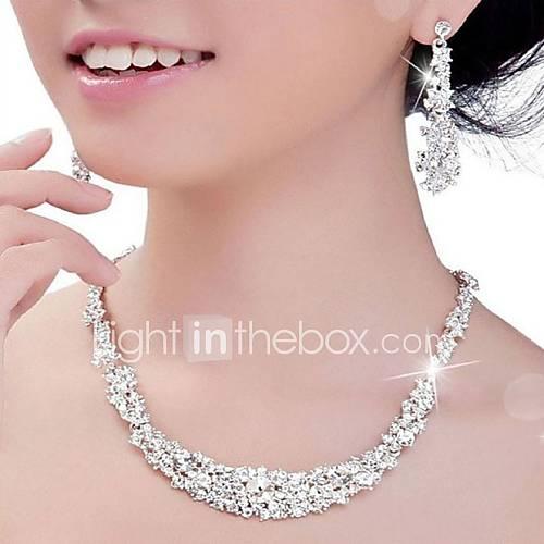 Conjunto de joyas De mujeres Aniversario / Boda / Pedida / Fiesta Sets de Joya Plata Cristal / Diamantes Sintéticos Pendientes / Collares Lightinthebox