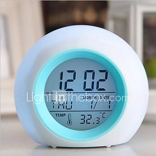 llevado digital brillante termómetro de alarma cambio reloj con sonidos de la naturaleza Descuento en Lightinthebox