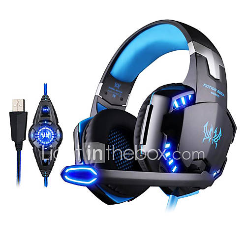 kotion cada G2200 juego de auriculares USB 7.1 envolvente sistema de vibración de auriculares estéreo de micrófono giratorio llevó Descuento en Lightinthebox