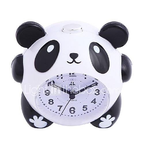 linda de la panda de dibujos animados reloj de alarma luz de la noche silenciosa para el regalo de los niños estudiantes de los niños Descuento en Lightinthebox