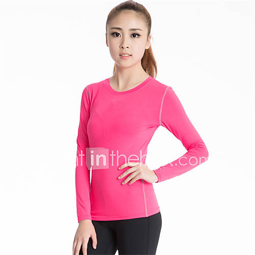 Running compression clothing women 39 s long sleeve for Lightweight breathable long sleeve shirts