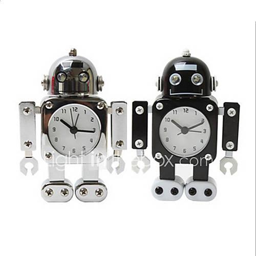 Robot Desk Alarm Clock Home Table Decoration Gift For