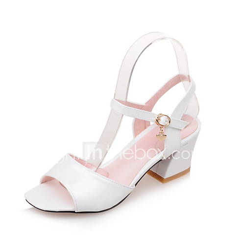 s shoes patent leather chunky heel square toe
