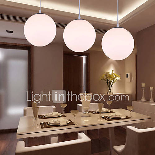 1 Lights 20CM Max 60W Modern Contemporary Glass Pendant Lights Living Room