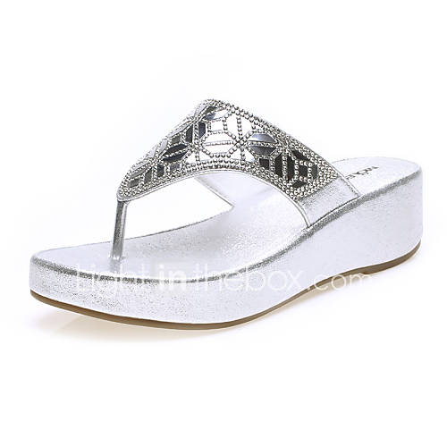 s shoes leatherette flat heel flip flops slippers