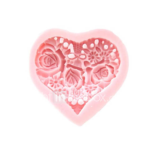 Molde 3D florece el corazón de silicona Fondant Moldes Azúcar herramientas artesanales de chocolate del molde para pasteles Descuento en Lightinthebox