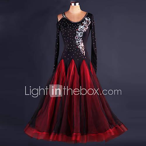 Vestidos(Negro,Espándex,Danza Moderna) -Danza Moderna- paraMujer Drapeado Representación Descuento en Lightinthebox