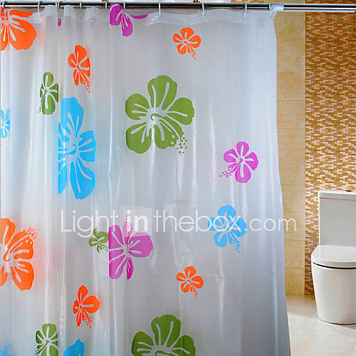 Four Color Printing Peach Thick Waterproof Mildew Shower Curtain 4939980 2017