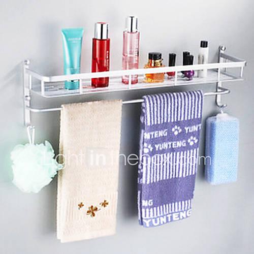 Etag re de salle de bain anodisation fixation murale 40 23 - Fixation miroir salle de bain ...