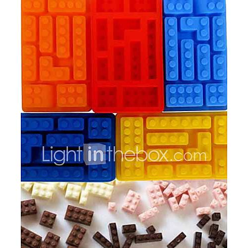 Building Block Style Bricks Ice Cream Cube Maker Silicone