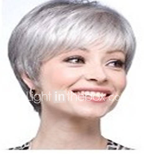 Grey White Wig 120