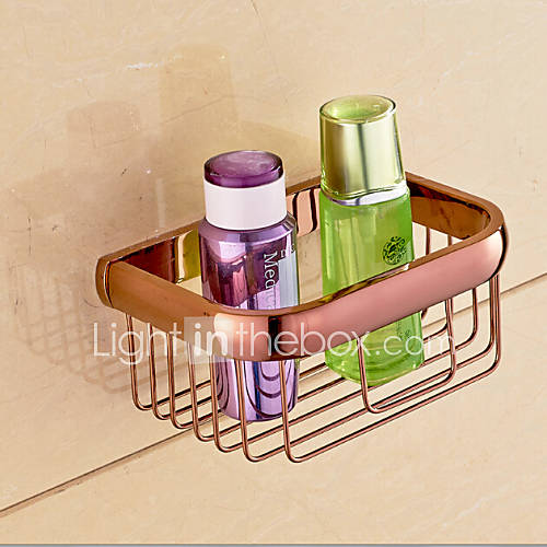 Rose gold bathroom accessories brass material toilet paper for Rose gold bathroom accessories sets