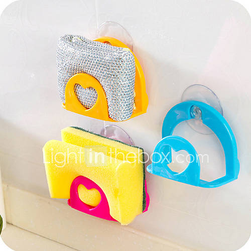 Wash Sponge Sink Tub Dish Cloth Storage Rack Holder Suction Cup(Random Color)