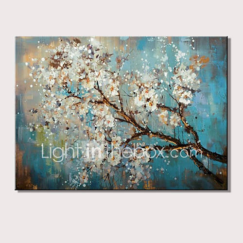 Mini size hand-Painted Abstract Landscape Modern Blooming Flowers Oil Painting On Canvas Ready To Hang One Panel