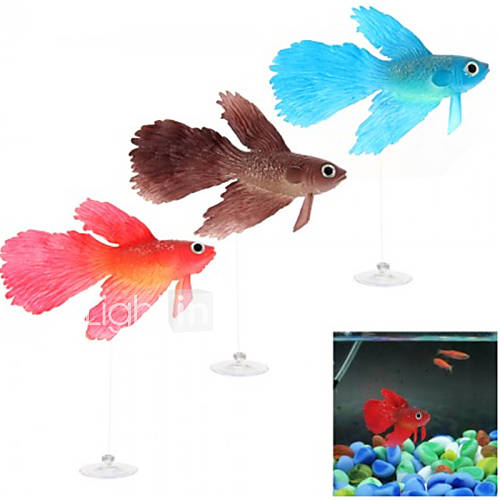 Aquarium fish tank suction cup floating glowing artificial for Betta fish floating