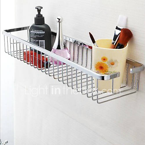 Etag re de salle de bain chrome fixation murale 31 23 18cm - Fixation miroir salle de bain ...