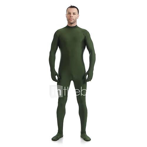 ternos-zentai-ninja-fantasia-zentai-fantasias-de-cosplay-verde-cor-unica-malha-collant-pijama-macacao-macacao-eslastico-catsuit