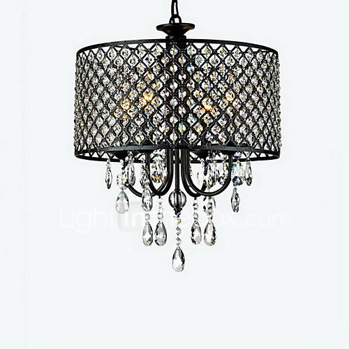 Dining Room Chandeliers Traditional Crystals: MAX:60W Chandelier , Traditional/Classic Chrome Feature